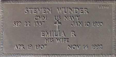 WUNDER, EMILIA R - Maricopa County, Arizona | EMILIA R WUNDER - Arizona Gravestone Photos