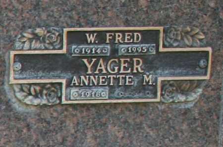 YAGER, ANNETTE M - Maricopa County, Arizona | ANNETTE M YAGER - Arizona Gravestone Photos