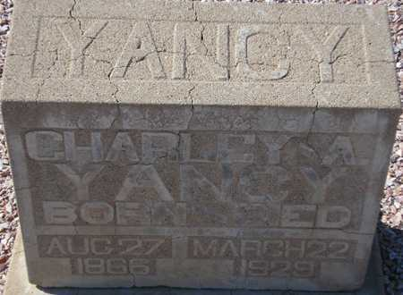 YANCY, CHARLEY A. - Maricopa County, Arizona | CHARLEY A. YANCY - Arizona Gravestone Photos