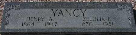 YANCY, ZELULIA E. - Maricopa County, Arizona | ZELULIA E. YANCY - Arizona Gravestone Photos