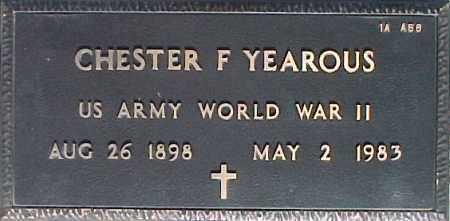 YEAROUS, CHESTER F. - Maricopa County, Arizona | CHESTER F. YEAROUS - Arizona Gravestone Photos