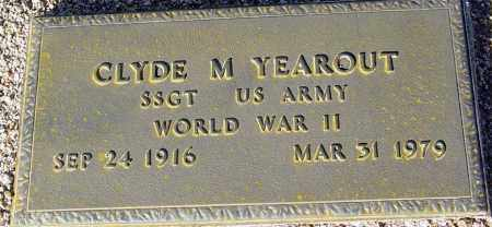 YEAROUT, CLYDE M. - Maricopa County, Arizona   CLYDE M. YEAROUT - Arizona Gravestone Photos