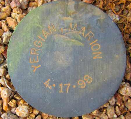 YERGIAN, MARION - Maricopa County, Arizona   MARION YERGIAN - Arizona Gravestone Photos