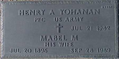 YOHANAN, MABEL M. - Maricopa County, Arizona | MABEL M. YOHANAN - Arizona Gravestone Photos