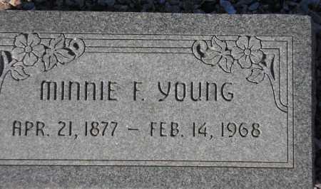 YOUNG, MINNIE F. - Maricopa County, Arizona   MINNIE F. YOUNG - Arizona Gravestone Photos