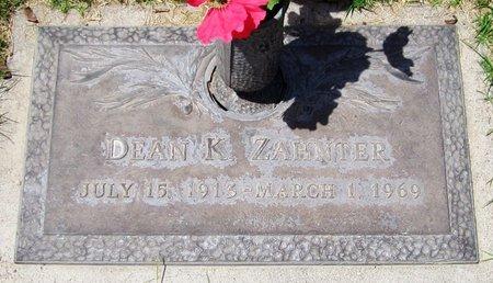ZAHNTER, DEAN K. - Maricopa County, Arizona | DEAN K. ZAHNTER - Arizona Gravestone Photos