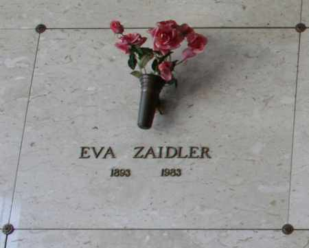 ZAIDLER, EVA - Maricopa County, Arizona | EVA ZAIDLER - Arizona Gravestone Photos