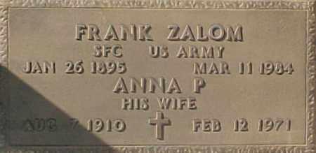 ZALOM, ANNA P - Maricopa County, Arizona   ANNA P ZALOM - Arizona Gravestone Photos
