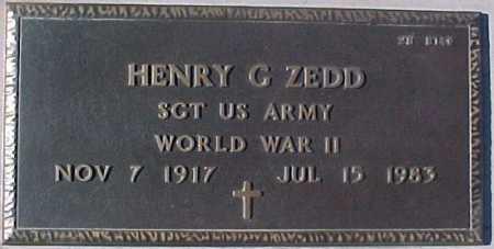 ZEDD, HENRY G. - Maricopa County, Arizona | HENRY G. ZEDD - Arizona Gravestone Photos
