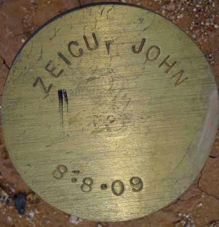 ZEICU, JOHN - Maricopa County, Arizona | JOHN ZEICU - Arizona Gravestone Photos