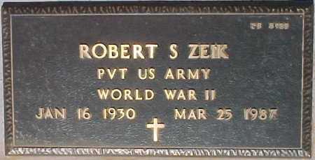 ZEIK, ROBERT S. - Maricopa County, Arizona | ROBERT S. ZEIK - Arizona Gravestone Photos