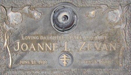 ZEVAN, JOANNE L. - Maricopa County, Arizona | JOANNE L. ZEVAN - Arizona Gravestone Photos