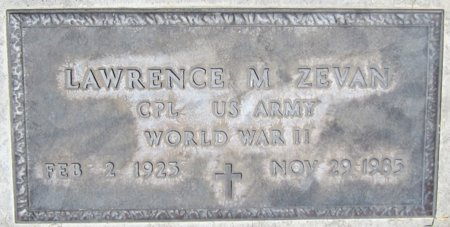 ZEVAN, LAWRENCE M. - Maricopa County, Arizona | LAWRENCE M. ZEVAN - Arizona Gravestone Photos