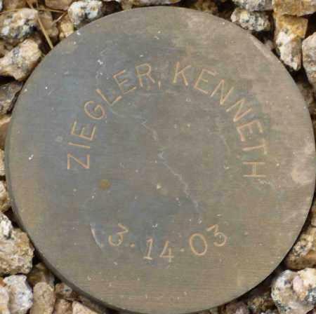 ZIEGLER, KENNETH - Maricopa County, Arizona   KENNETH ZIEGLER - Arizona Gravestone Photos