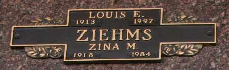 ZIEHMS, ZINA M - Maricopa County, Arizona | ZINA M ZIEHMS - Arizona Gravestone Photos