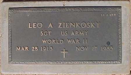 ZIENKOSKY, LEO A - Maricopa County, Arizona | LEO A ZIENKOSKY - Arizona Gravestone Photos