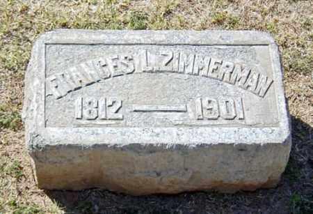 ZIMMERMAN, FRANCES LAVINIA - Maricopa County, Arizona | FRANCES LAVINIA ZIMMERMAN - Arizona Gravestone Photos
