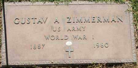 ZIMMERMAN, GUSTAV A - Maricopa County, Arizona | GUSTAV A ZIMMERMAN - Arizona Gravestone Photos