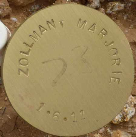 ZOLLMAN, MARJORIE - Maricopa County, Arizona   MARJORIE ZOLLMAN - Arizona Gravestone Photos