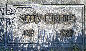 AADLAND, BETTY - Mohave County, Arizona | BETTY AADLAND - Arizona Gravestone Photos
