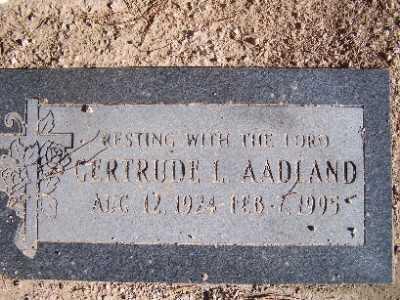 AADLAND, GERTRUDE L - Mohave County, Arizona | GERTRUDE L AADLAND - Arizona Gravestone Photos