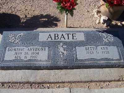 ABATE, DOMINIC ANTHONY - Mohave County, Arizona | DOMINIC ANTHONY ABATE - Arizona Gravestone Photos