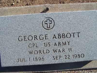ABBOTT, GEORGE - Mohave County, Arizona | GEORGE ABBOTT - Arizona Gravestone Photos