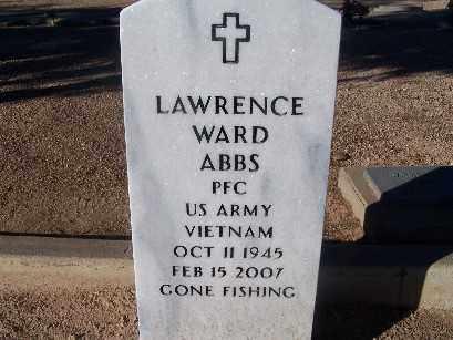 ABBS, LAWRENCE WARD - Mohave County, Arizona | LAWRENCE WARD ABBS - Arizona Gravestone Photos