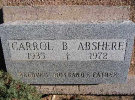 ABSHERE, CARROLL B - Mohave County, Arizona   CARROLL B ABSHERE - Arizona Gravestone Photos