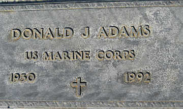 ADAMS, DONALD J - Mohave County, Arizona   DONALD J ADAMS - Arizona Gravestone Photos