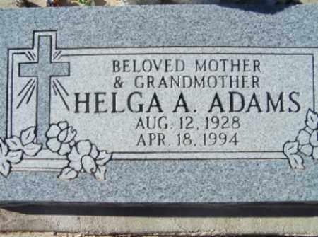 ADAMS, HELGA A - Mohave County, Arizona | HELGA A ADAMS - Arizona Gravestone Photos