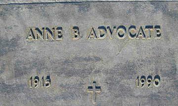 ADVOCATE, ANNE B - Mohave County, Arizona | ANNE B ADVOCATE - Arizona Gravestone Photos