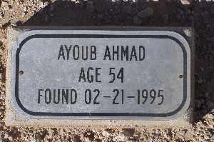 AHMAD, AYOUB - Mohave County, Arizona   AYOUB AHMAD - Arizona Gravestone Photos