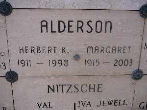 ALDERSON, MARGARET - Mohave County, Arizona | MARGARET ALDERSON - Arizona Gravestone Photos