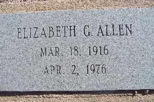 ALLEN, ELIZABETH G - Mohave County, Arizona   ELIZABETH G ALLEN - Arizona Gravestone Photos