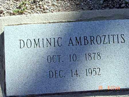 AMBROZITIS, DOMINIC - Mohave County, Arizona | DOMINIC AMBROZITIS - Arizona Gravestone Photos