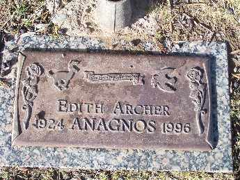 ARCHER ANAGNOS, EDITH - Mohave County, Arizona | EDITH ARCHER ANAGNOS - Arizona Gravestone Photos