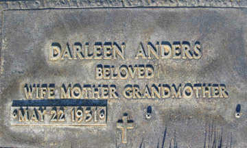 ANDERS, DARLEEN - Mohave County, Arizona | DARLEEN ANDERS - Arizona Gravestone Photos