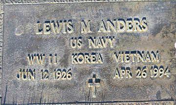 ANDERS, LEWIS M - Mohave County, Arizona | LEWIS M ANDERS - Arizona Gravestone Photos