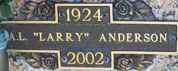 ANDERSON, A. L. - Mohave County, Arizona | A. L. ANDERSON - Arizona Gravestone Photos