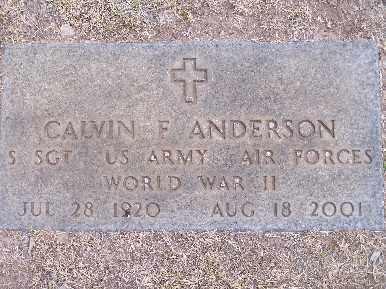 ANDERSON, CALVIN F - Mohave County, Arizona | CALVIN F ANDERSON - Arizona Gravestone Photos