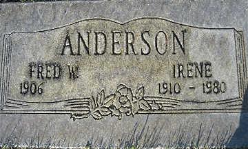 ANDERSON, FRED W - Mohave County, Arizona | FRED W ANDERSON - Arizona Gravestone Photos