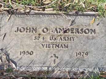 ANDERSON, JOHN OSCAR - Mohave County, Arizona | JOHN OSCAR ANDERSON - Arizona Gravestone Photos
