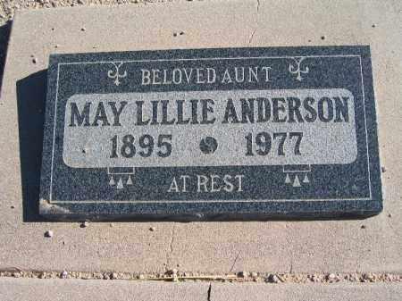 ANDERSON, MAY LILLIE - Mohave County, Arizona | MAY LILLIE ANDERSON - Arizona Gravestone Photos