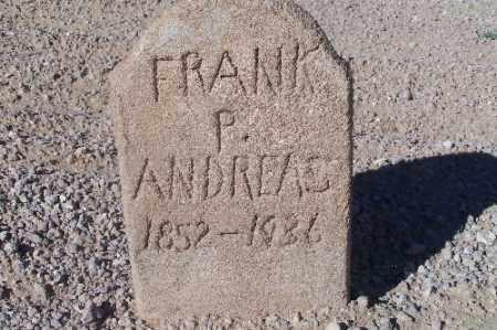 ANDREAS, FRANK P. - Mohave County, Arizona | FRANK P. ANDREAS - Arizona Gravestone Photos