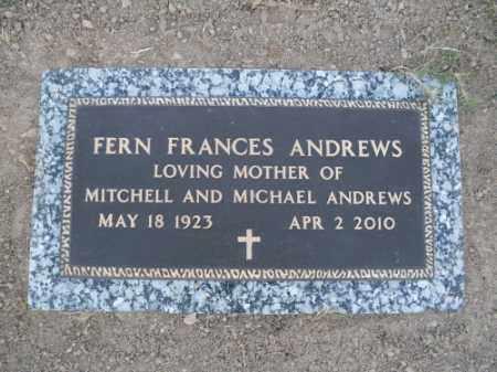 ANDREWS, FERN FRANCES - Mohave County, Arizona   FERN FRANCES ANDREWS - Arizona Gravestone Photos
