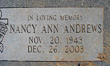 ANDREWS, NANCY ANN - Mohave County, Arizona | NANCY ANN ANDREWS - Arizona Gravestone Photos