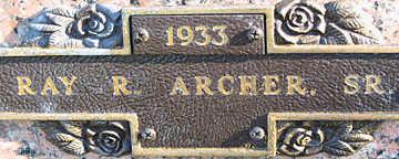 ARCHER, RAY R SR. - Mohave County, Arizona | RAY R SR. ARCHER - Arizona Gravestone Photos