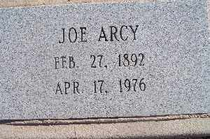 ARCY, JOE - Mohave County, Arizona | JOE ARCY - Arizona Gravestone Photos