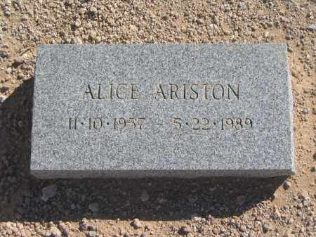 ARISTON, ALICE - Mohave County, Arizona | ALICE ARISTON - Arizona Gravestone Photos